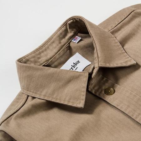 Corridor Herringbone Overshirt - Khaki