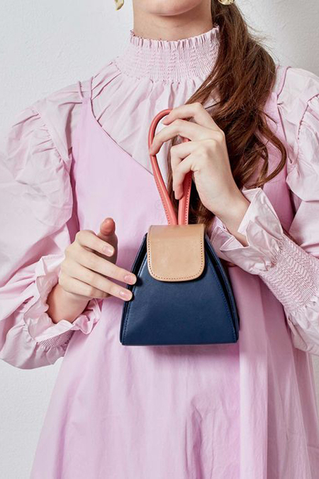 Atelier Park Colorblock Triangle Bag - Navy
