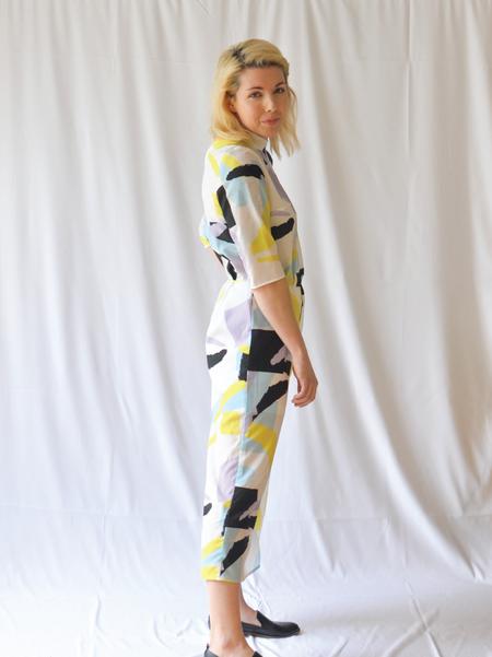 "One Imaginary Girl ""Art School"" Printed Jumpsuit"