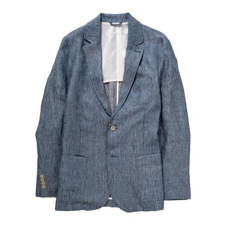 Corridor Blue Ticking Stripe Linen - Blazer