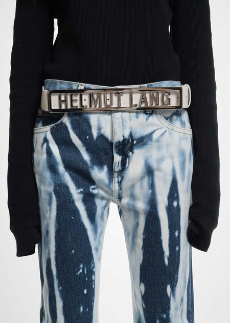 White Helmut Lang Name Plate Belt