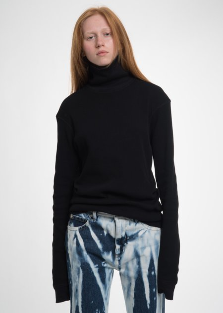 Helmut Lang Black Dart Sleeve Turtleneck