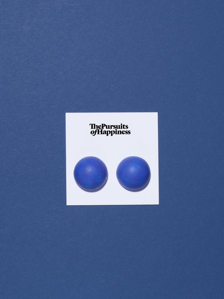 The Pursuits of Happiness Big Bump Earrings - Cobalt
