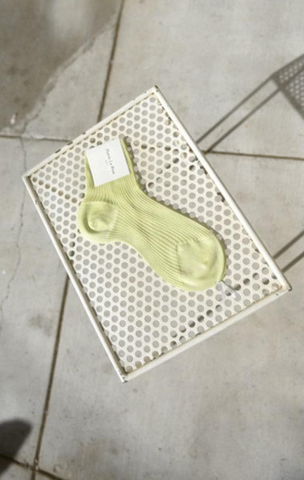 Maria La Rosa Ribbed Sock - Lime