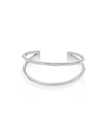Edge of Ember Focal Silver Cuff