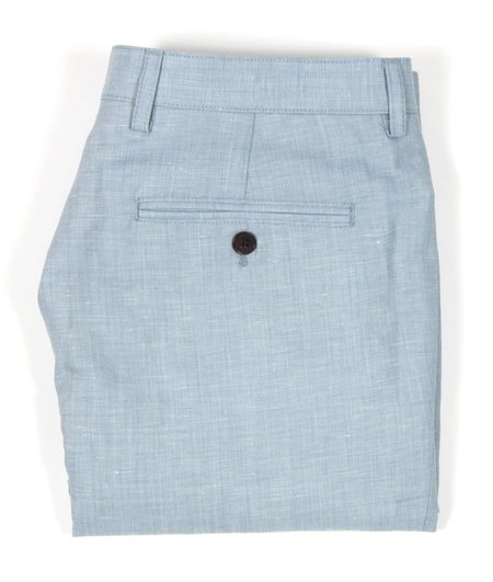 AFIELD LINEN TRICKER SHORTS - BLUE
