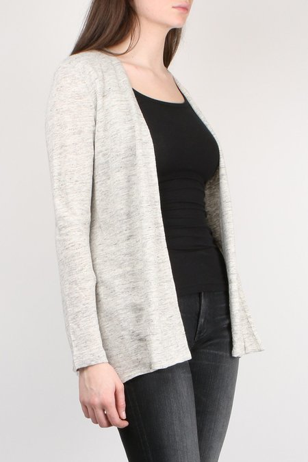 Allude Linen Open Cardi - Heather Grey