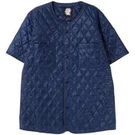 BRAIN DEAD SHORT SLEEVE QUILTED LINER - NAVY