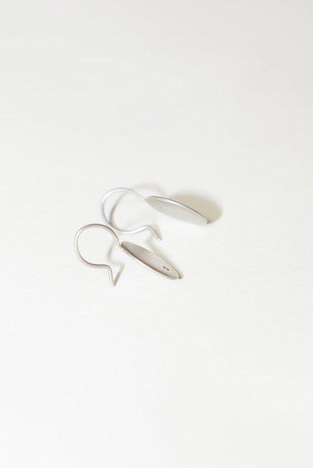 mmck Sterling Silver Earrings Off Set White Diamonds