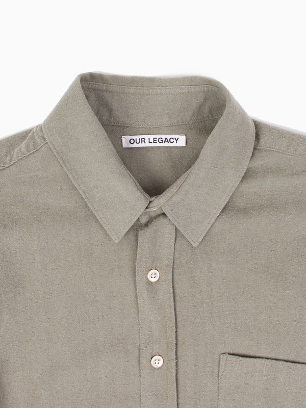 Our Legacy Classic Shirt Light Olive Silk