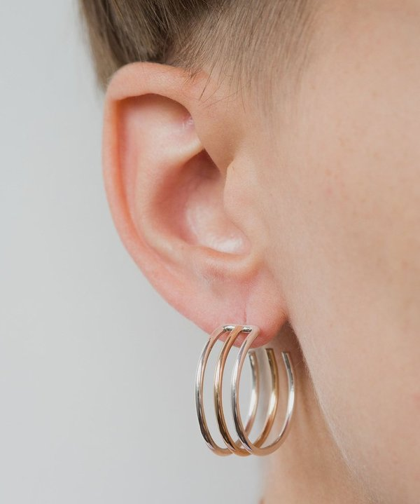 One Six Five Triple Hoop Earring