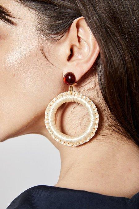 Rachel Comey Lami Earrings - Bone Brown