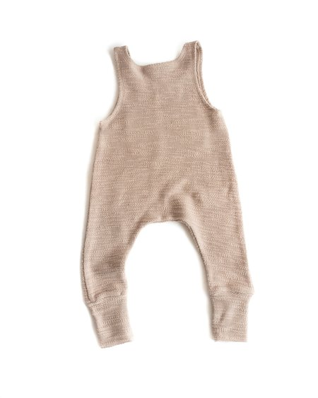 Kids Telegraph Ave Tank Romper - Taupe