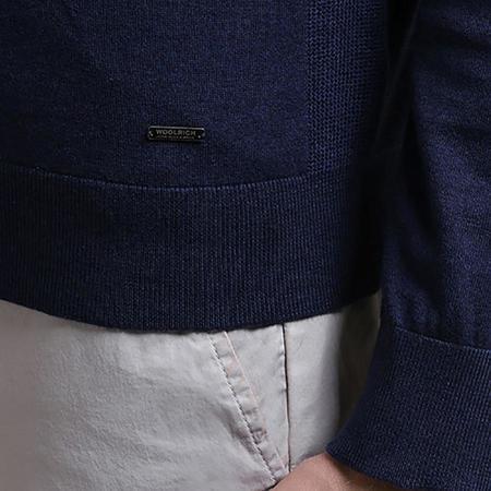 Woolrich John Rich & Bros. Pima Cotton Crewneck Sweater - Alpine Navy