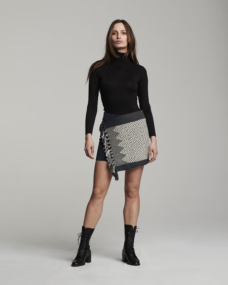 VOZ Apparel Diamante Mini Wrap Skirt