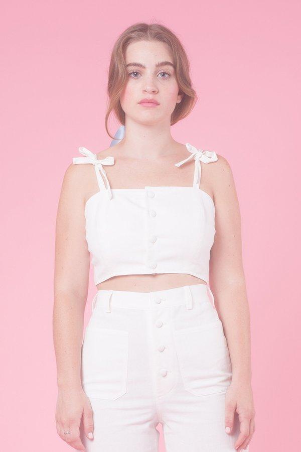 Samantha Pleet Chorus Tank - white