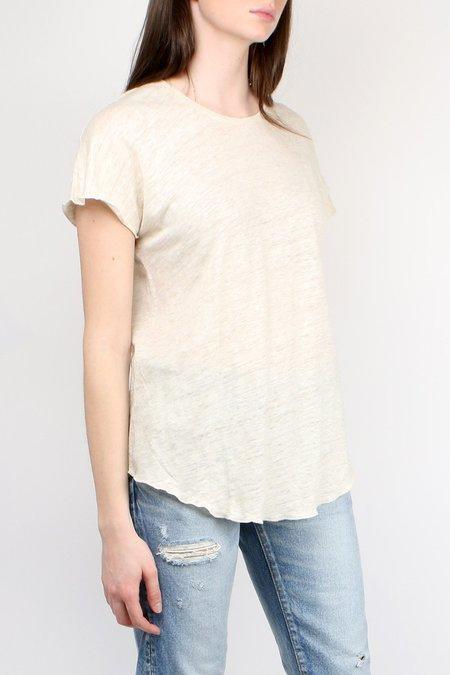 Cathrine Hammel Linen Tee-Shirt - Off White Melange