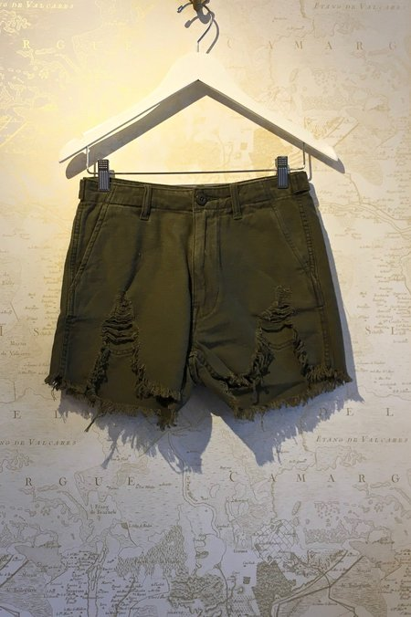 R13 Distressed Camp Short