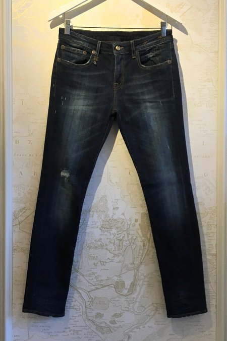 R13 Kate Skinny in Seattle Vintage with Rips