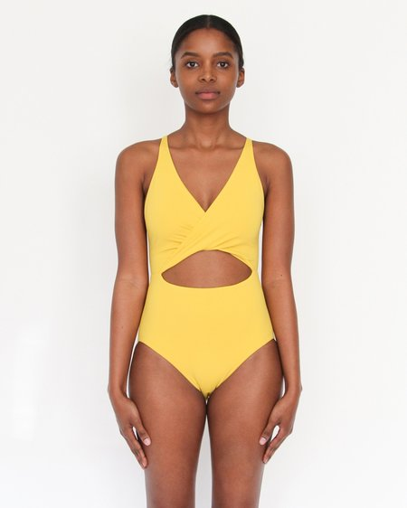 Esby Swim Maria Cut Out One Piece - Curry