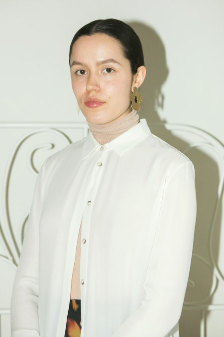 Rilyn Moune Layered Oxford Tunic - White