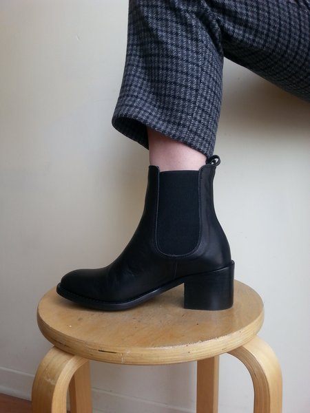 L'Intervalle Larabee Boots - Black Leather