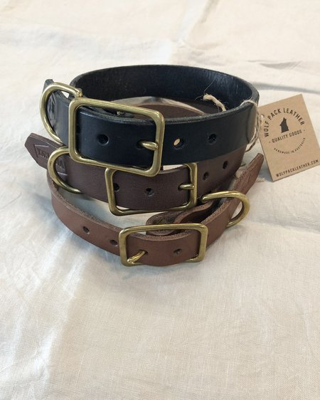 Wolf Pack Leather Leather Dog Collar