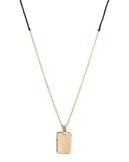 Scosha Tag Braid Necklace - Gold