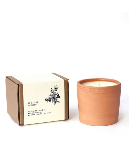 P.F. Candle Co. TERRACOTTA CANDLE - OLIVE