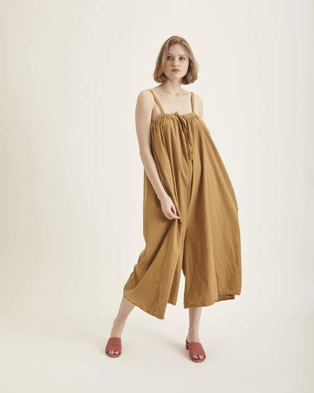 Revisited Matters Marsella Jumpsuit in Dark Gold