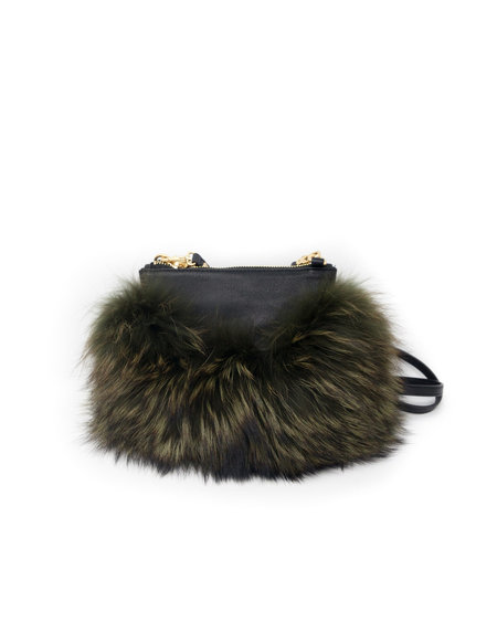 Emma Kuo Majorelle Fur Pouch