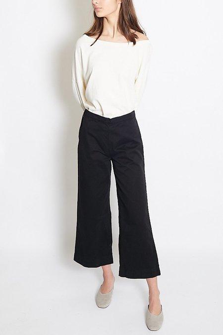 Ali Golden Pima Cotton Twill Pant - Black