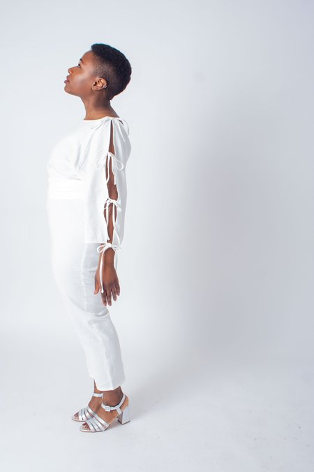 Samantha Pleet Harmonic Jumpsuit (Petite) - White