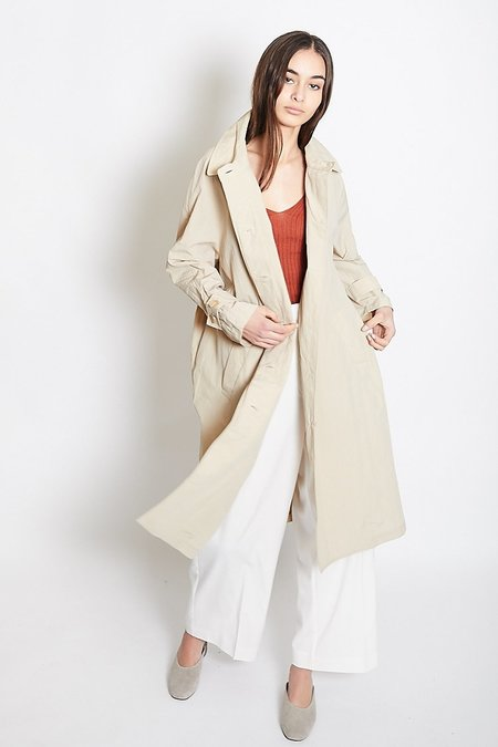 Mijeong Park Single-Breasted Trench Coat - Beige