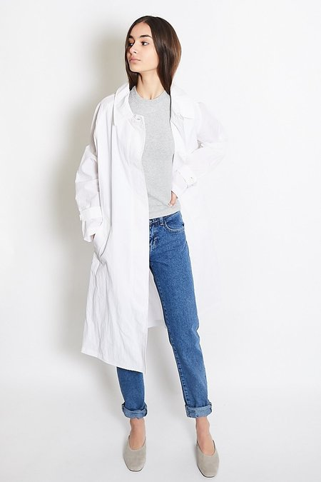 Mijeong Park Single-Breasted Trench Coat - White