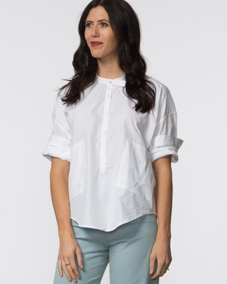 SBJ Austin Isabel Top - White Poplin