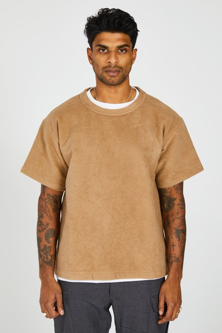 TS(S) Heavy Cotton Fleece Shortsleeve Shirt - Beige