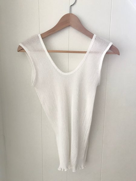 Lauren Manoogian Accordion Tank in White