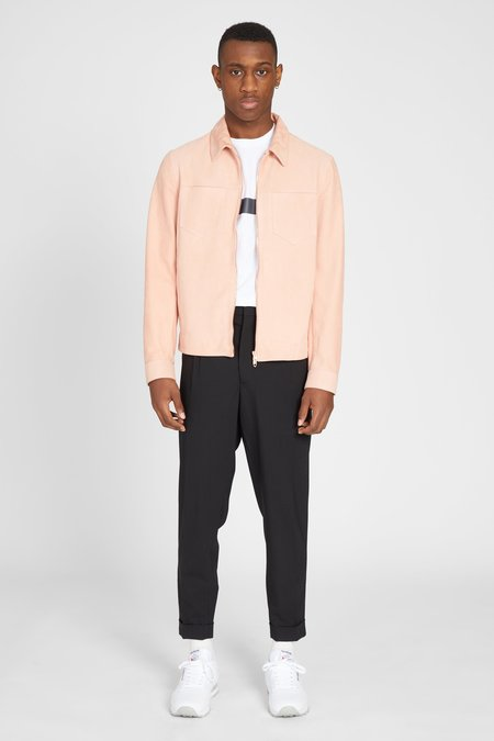 PRESIDENTS NAPPA SUEDE SHIRT JACKET - PINK