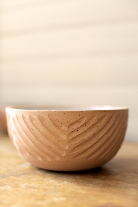 Juno Pottery Carved Soup Bowl