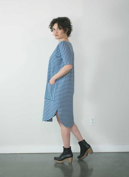 Jennifer Glasgow Timoneer Dress in Blue Stripe