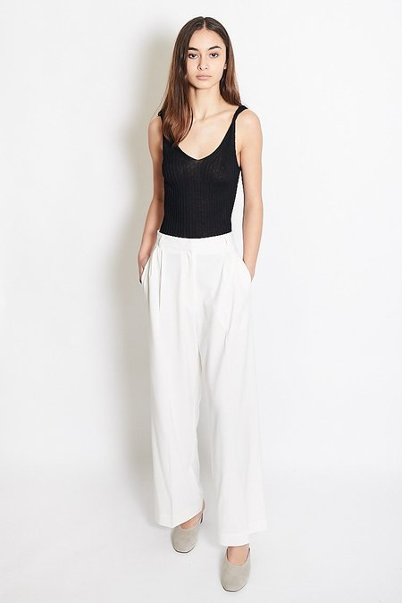 Mijeong Park Wide Leg Tailored Trousers - Ivory