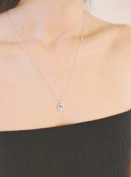 J.Hannah Inlay Signet Pendant Necklace