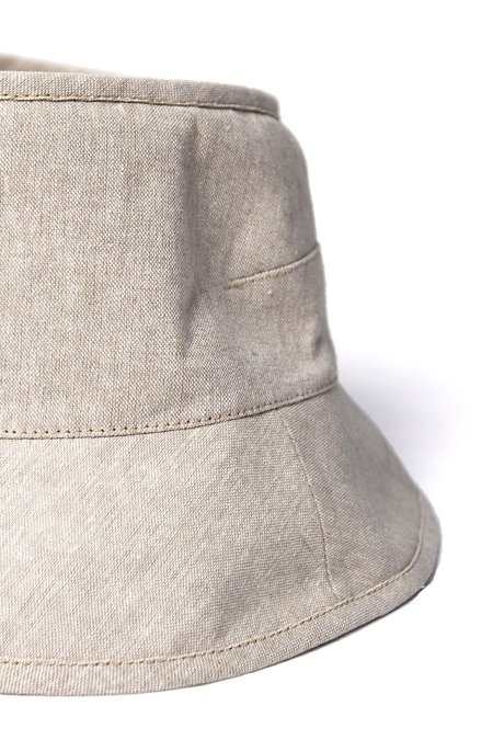 Tsuyumi Short Brim Block Top Linen - GRAY