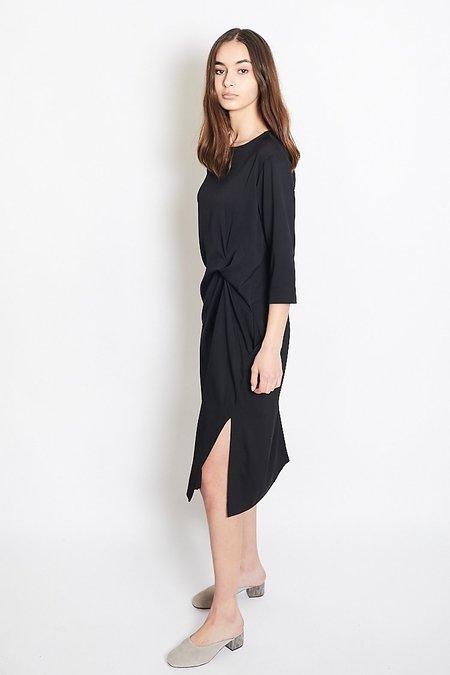 Mijeong Park Knot Drape Dress - Black