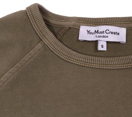 YMC Schrank Raglan Sweat - Olive