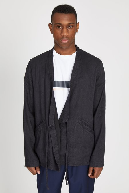 TS(S) Linen Viscose Twill Samue Jacket - Charcoal