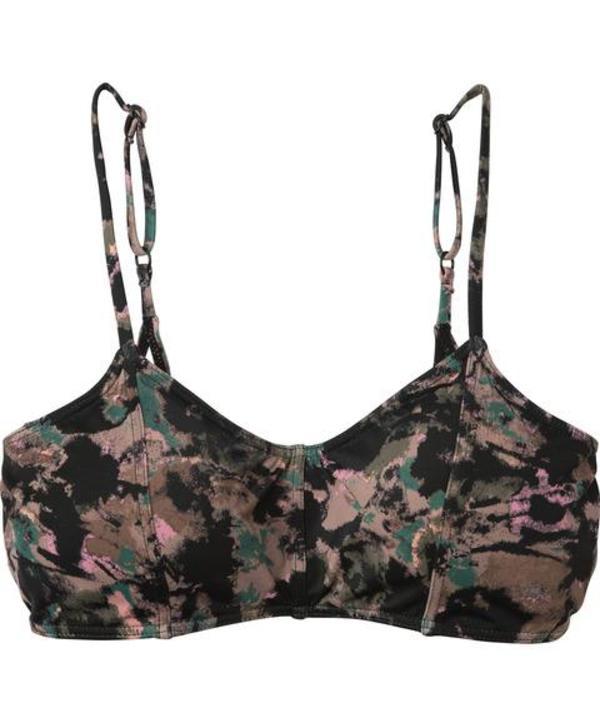 RVCA Camo Floral Bralette Swim Top - Mauve