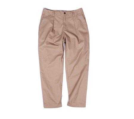 Still By Hand Deep Tuck Twill Trousers  - Beige