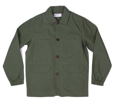 Universal Works Labour Jacket - Olive Compact Cotton